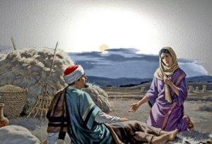 Ruth at Boazs feet