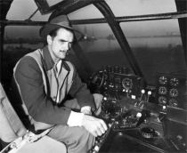 hh at controls of spruce goose